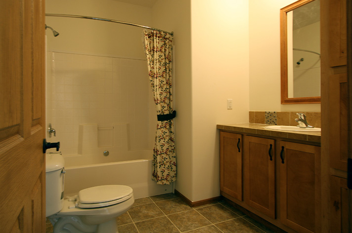 A view of the main bathroom